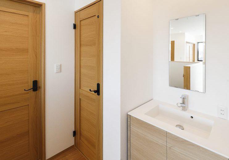 ジブンハウス810アリビオファムエディション:2階洗面コーナー